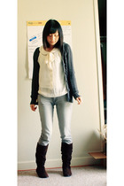 Charlotte Ronsontte Russe blouse - Steve Madden boots - PacSun jeans - Aeroposta