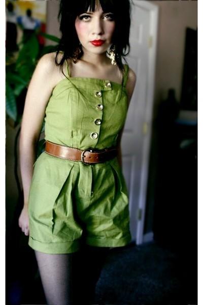 green romper twelve by twelve forever21 suit - black nylons Target stockings