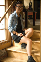 vintage jacket - H&M dress - headband accessories - doc martens shoes