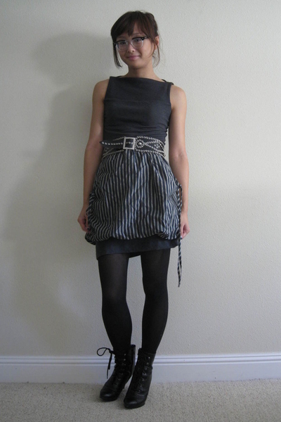 James Perse dress - Forever21 skirt - payless shoes - vintage belt
