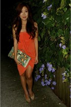 carrot orange Body and Soul dress