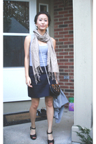 abercrombie and fitch top - Forever 21 scarf - Target purse