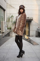 eli coat - show top - mimi skirt - alie accessories - monica tights - beyond sho