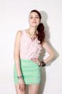 Chiffon-top-spike-shirt-chiffon-skirt