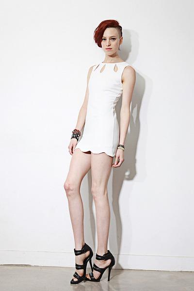 keyhole mini dress