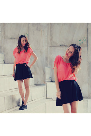 salmon choiescom blouse - black Forever21 skirt