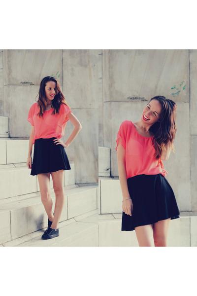 salmon choiescom blouse - black Forever21 skirt