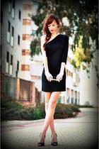 black Venca dress - black Alex Silva bag - black sam edelman heels
