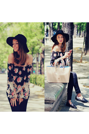 navy floral print choiescom blouse