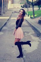 light pink skirt Stradivarius skirt - black Rosewholesale boots