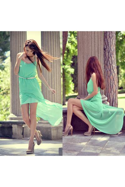 Zara dress - camel xti heels