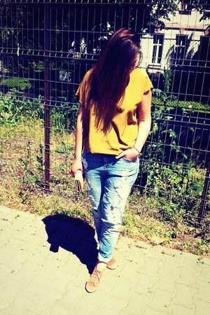 blue jeans boyfriend New Yorker jeans