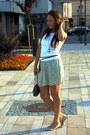 Red-h-m-skirt-white-hennes-top-cream-amisu-flats