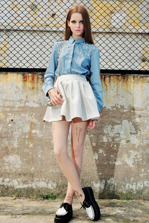 blue jeans Bershka skirt