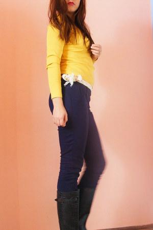 daichman boots - navy H&M pants