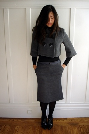 Soia Kyo jacket - BCBG shoes - BCBG skirt - French Connection top - DKNY tights