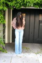 Zara top - jeans - Kors by Michael Kors shoes