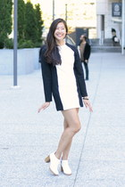 ootds dress - white Cheap Monday heels - black accessories
