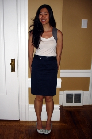 white tank Alexander McQueen for Target top - white Vince Camuto shoes