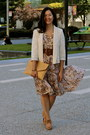 Light-brown-vintage-dress-eggshell-abercrombie-and-fitch-blazer