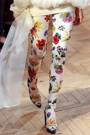 ivory sequined tights