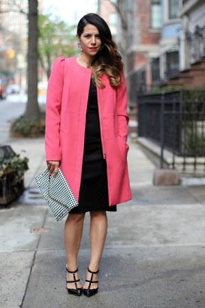 pink coat H&M coat