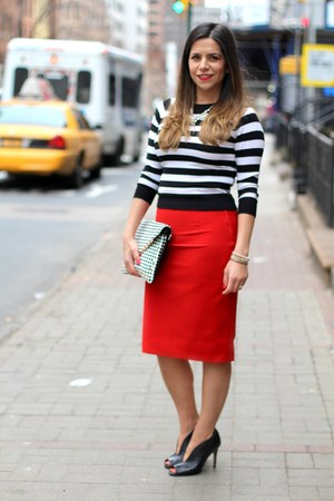 BCBG top - Zara skirt