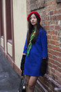 Black-versace-purse-blue-h-m-dress-red-beret-ebay-hat