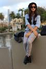 Chambray-diy-shirt-zara-boots-lace-brocade-nordstrom-jeans-gap-jacket