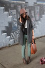 White-mountain-boots-urban-outfitters-coat-cloche-ebay-hat-zara-bag
