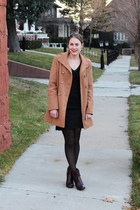 camel modcloth coat - brick red & other stories boots