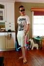 H-m-shorts-express-glasses-h-m-t-shirt-h-m-sandals