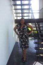 sling backs gianni bini heels - wrap Harvey Benard dress - black brahmin purse