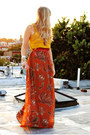 Gold-forever-21-blouse-carrot-orange-h-m-skirt-red-h-m-belt
