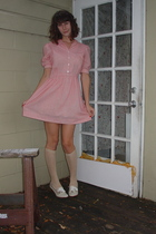 vintage dress - urban outfitters vintage shoes - Mod Cloth socks