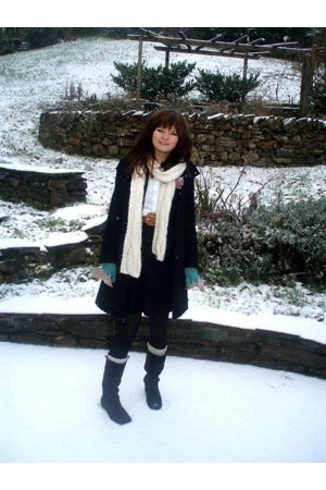 Primark scarf - new look coat - asos belt - asos dress - Miss Selfride boots - P