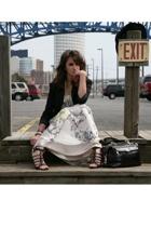 Schumacher dress - vintage blazer - Nine West shoes - Rebecca Minkoff purse - Bu