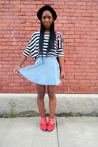 striped t-shirt - circle American Apparel skirt