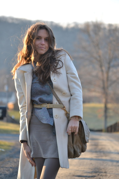 ivory Nine West jacket - light blue Theory blouse - beige H&M skirt