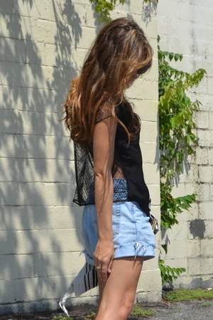Armani Exchange blouse - denim vintage shorts