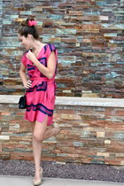 hot pink Marc Jacobs dress - beige BCBG pumps