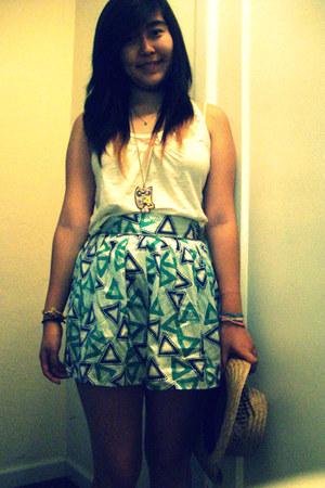 sears top - Forever21 skirt - Forever21 necklace - sillybandz bracelet
