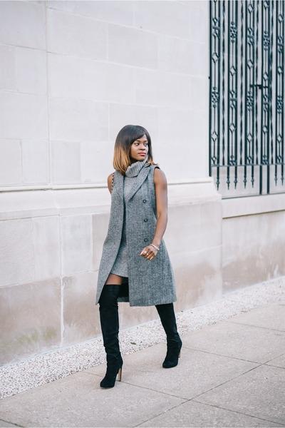 Macys sweater - sam edelman boots - Macys vest