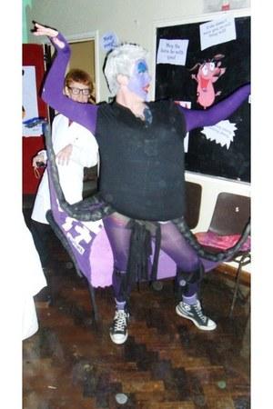 purple cheap t-shirt - purple Homemade tentacles belt