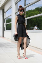 Forever21 dress - Chanel bag - Zara heels