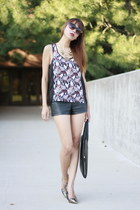 Givenchy bag - Forever21 shorts - Via Spiga heels - H&M top