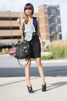 Nordstrom skirt - Guess boots - Michael Kors bag - DKNY top