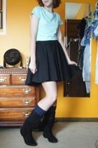 AE DIY t-shirt - Target skirt - Target socks - boots