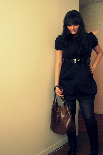 Costa Blanca dress - first purse - Spring boots - ardenes tights