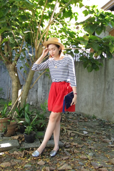 navy Accessorize bag - red clothes for the goddess shorts